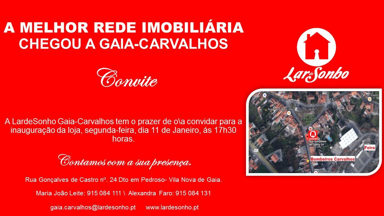 REDE IMOBILIÁRIA LARDESONHO abre loja em Gaia - Carvalhos