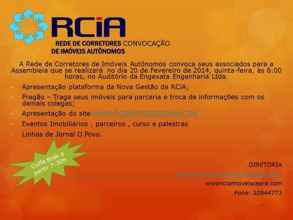 Assembléia RCiA - Dia 20 de Fevereiro 2014